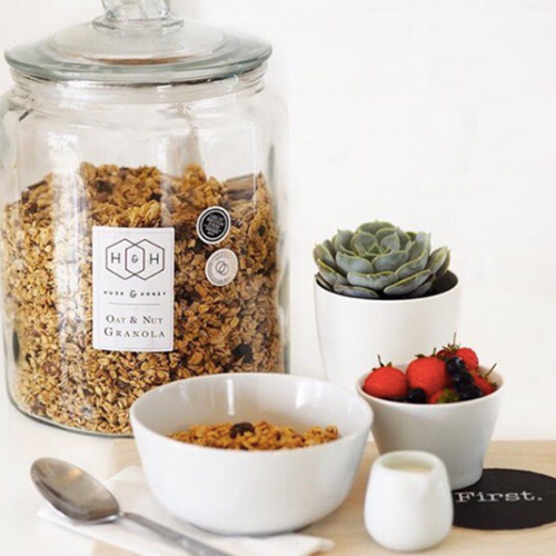 the pantry at first coffee shop husk and honey hand baked gluten free granola