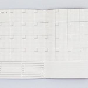 The completist weekly planner A5 size inside pages