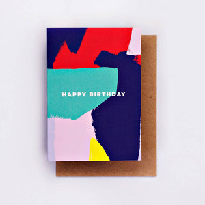 the completist greeting card bright painter print birthday card