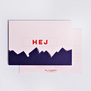 the completist hello greeting postcards hej