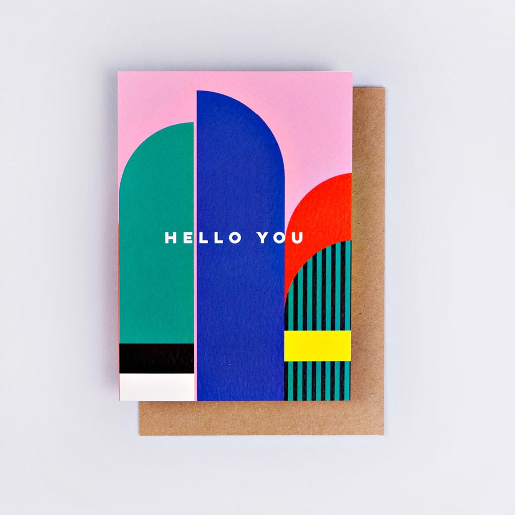 The completist A6 card hello you miami print