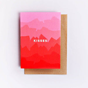 The completist A6 love card Kisses Ombre print