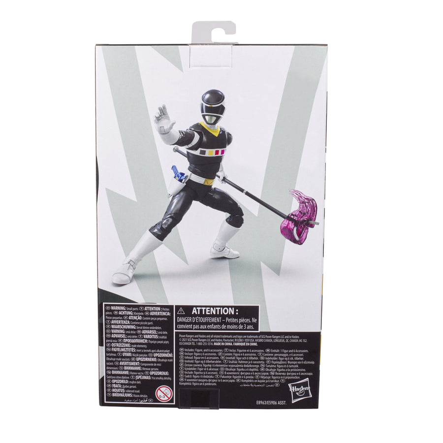 Power Rangers Lightning Collection In Space Black Ranger Ranger Figure