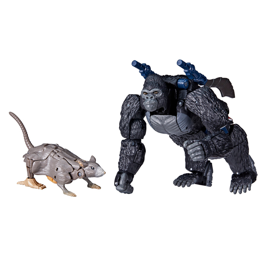 Transformers War for Cybertron Series-Inspired Optimus Primal and Rattrap