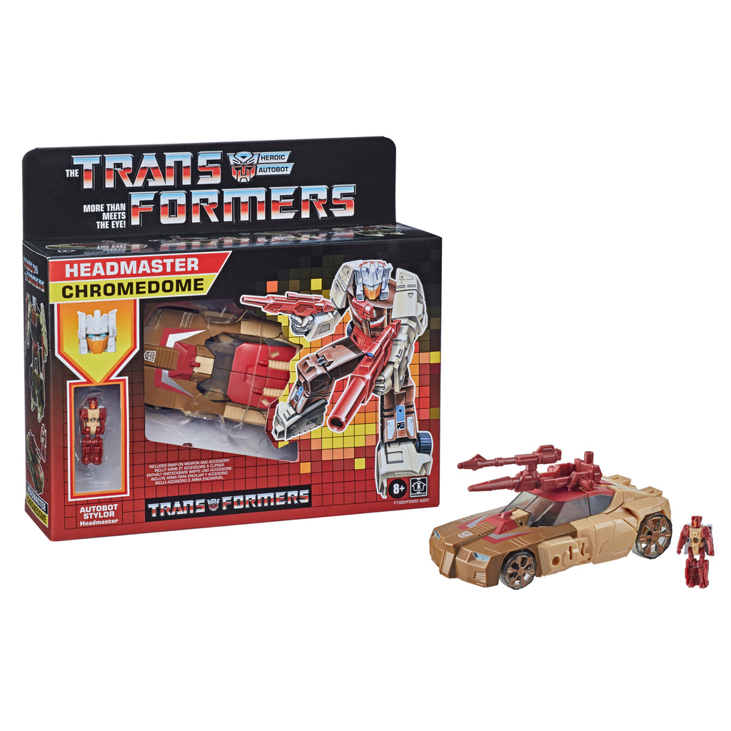 Transformers Generations Retro Headmaster Chromedome