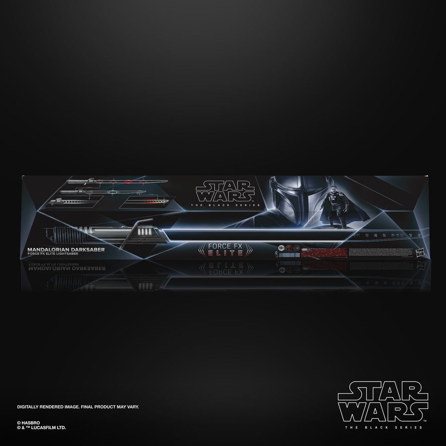 Star Wars The Black Series Mandalorian Darksaber Force FX Elite Lightsaber