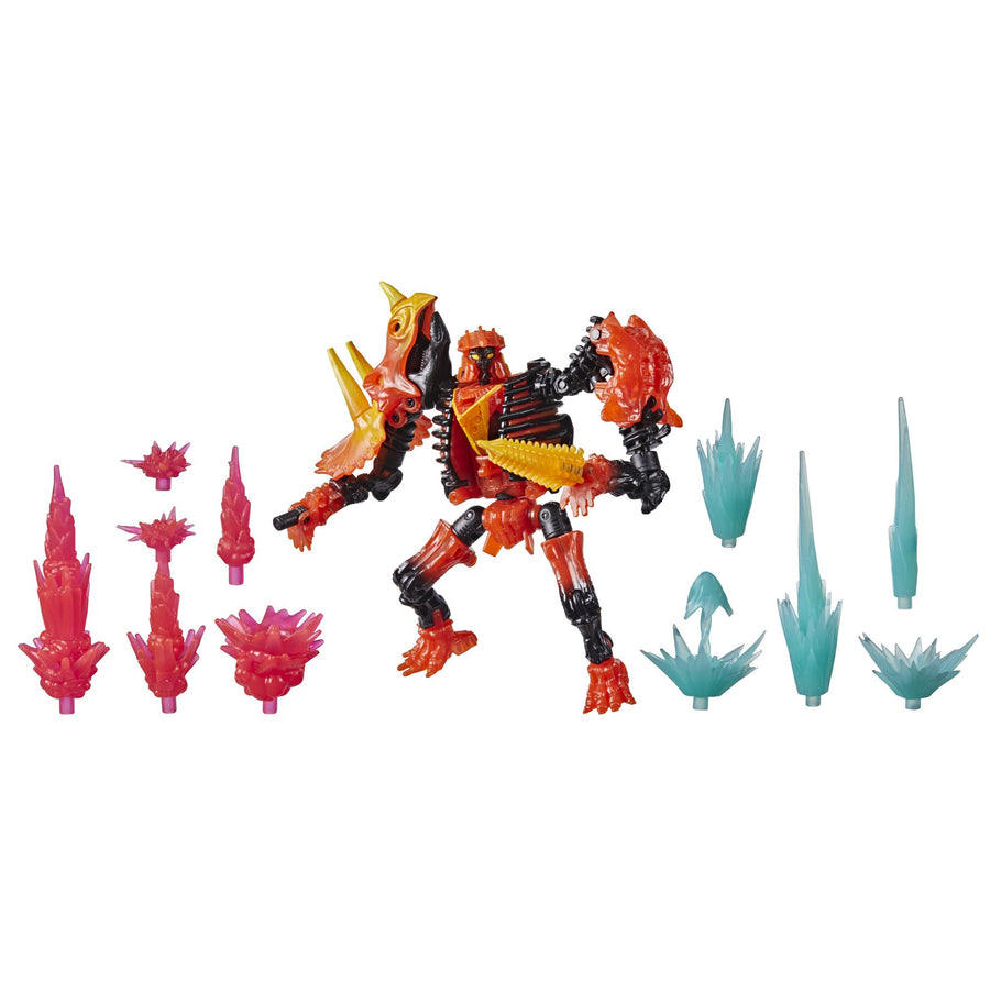 Transformers Generations War for Cybertron Deluxe WFC-K39 Tricranius Beast Power Fire Blasts Collection pack