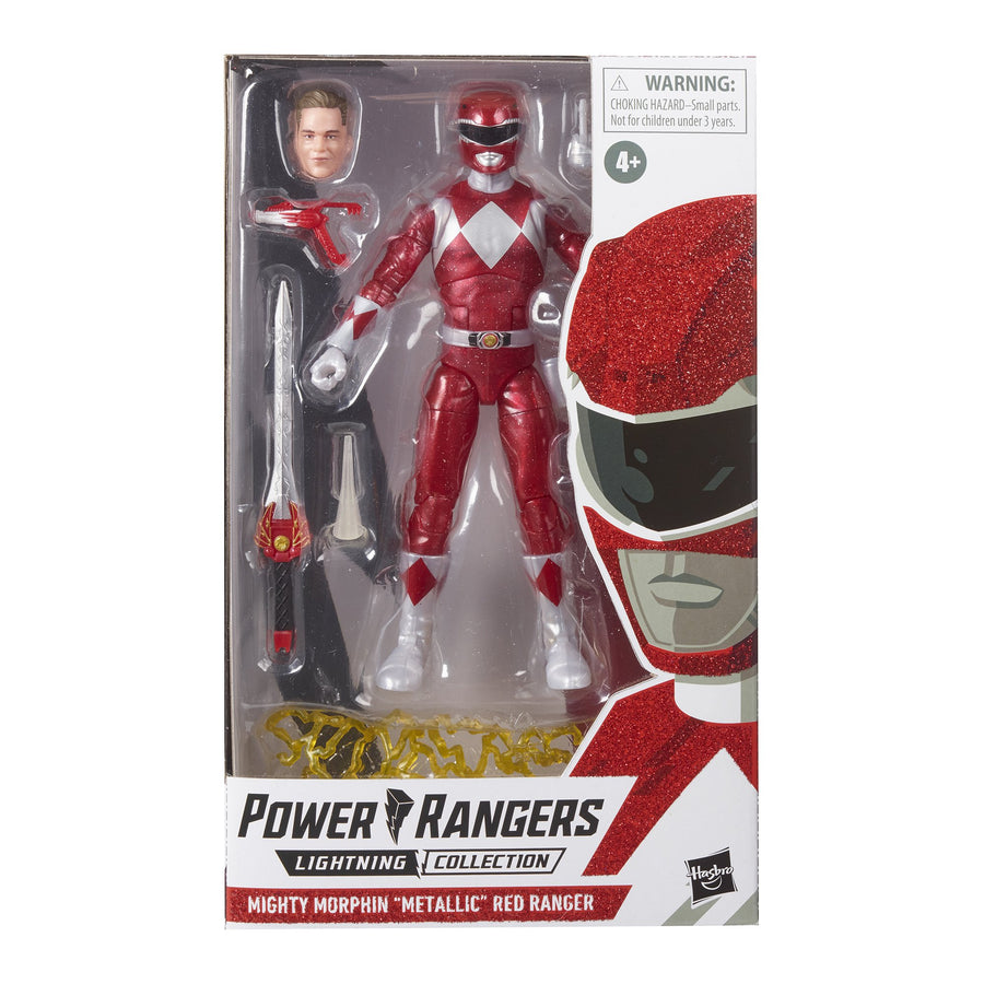 Power Rangers Lightning Collection Mighty Morphin Metallic Red Ranger