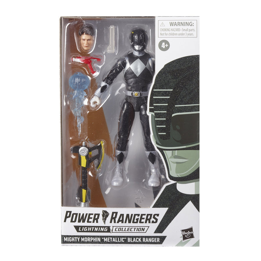 Power Rangers Lightning Collection Mighty Morphin Metallic Black Ranger