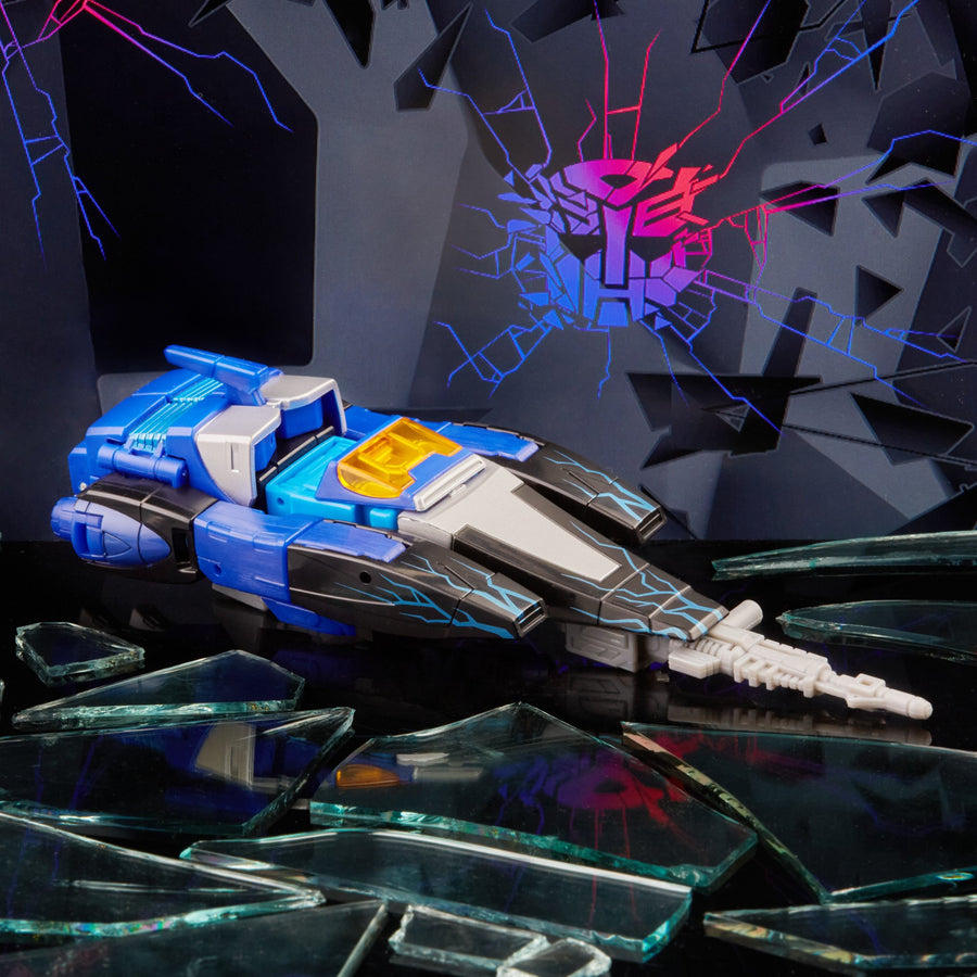 Transformers Generations Shattered Glass Collection Blurr & IDW's Shattered Glass—Blurr (Exclusive Hasbro Pulse UV Foil Variant Cover)