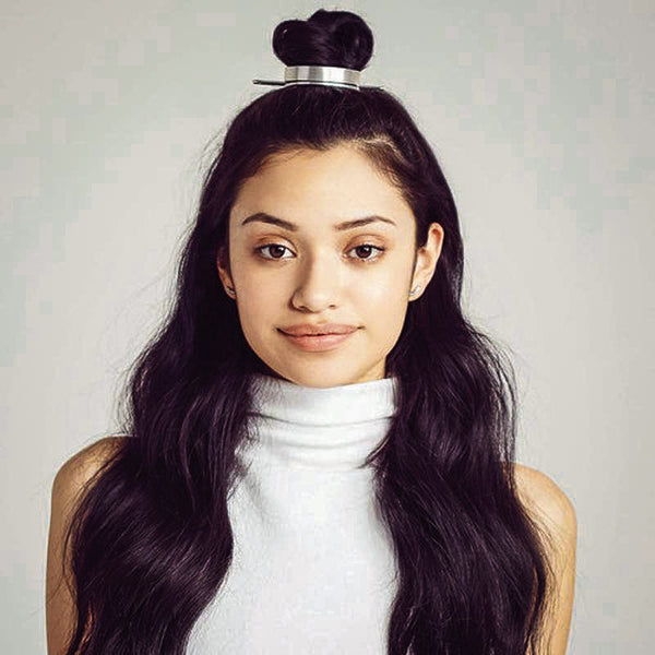 Polished bun cuff wrap style hairstyle updo trendy