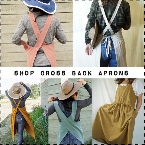 cross back aprons