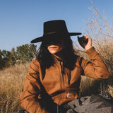 Wide Brim Wool Felt Rancher Hat