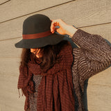 Wool Felt Cloche Hat with Tassel