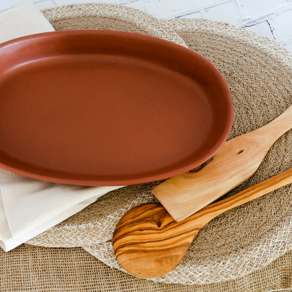DINNER AT HOME SET: Terracotta Dish, Placemat Set, Spoon, Server, Towels