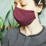 Overhead Organic Cotton Mask with Filter Pocket