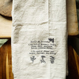 Farmhouse flour sack kitchen towel