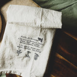 Homestyle kitchen towel with recipe
