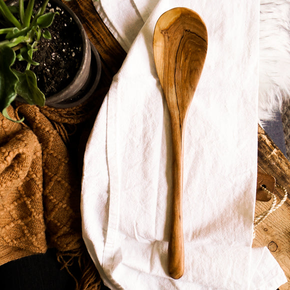 Wild Olive Wood Gratin Serving Spoon
