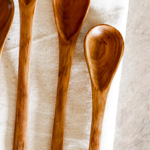 Wild Olive Wood Small Spoon Set