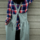 Cross Back Cotton Apron - Long Dress