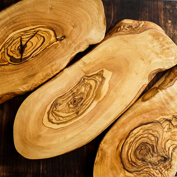 Tunisian Olive Wood Slab Cutting Board