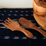 Compact Wild Olive Wood Serving Set