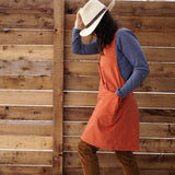 Cross Back Cotton Apron - Mid Length