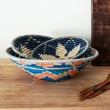 Blue Star Raffia Banana Leaf Basket
