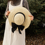 Annie Garden Hat with Black Bow