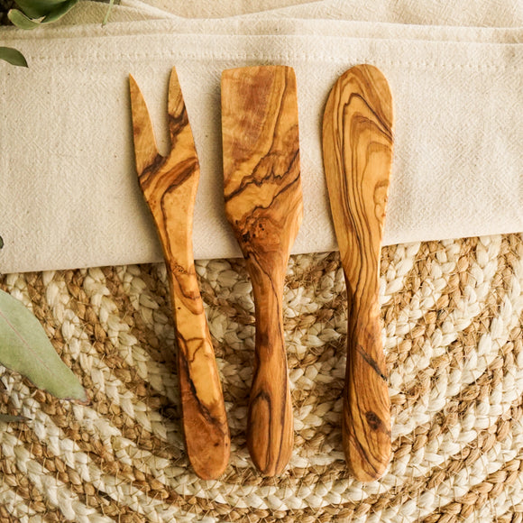 Wood Cheese Utensil Set