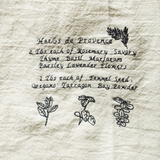 Homestyle kitchen towels with embroidery art