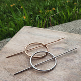Circle Hair Pin with Stick