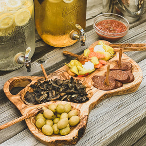 Tunisian Natural Olive Wood Appetizer Tray