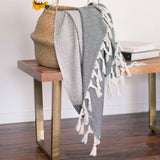 Colorblock Print Turkish Cotton Towel / Throw