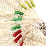 Reusable Cotton Produce Bags with Weight 3pk