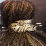 Feather Bun Cuff with Hair Stick