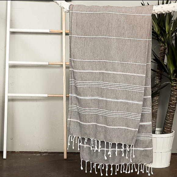 Lightweight Turkish Cotton Stripe Towel