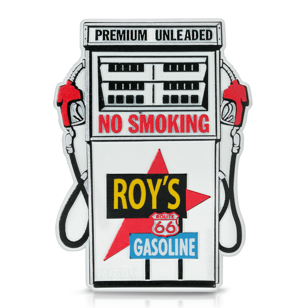 Roy's Motel Cafe Gasoline Station Magnet