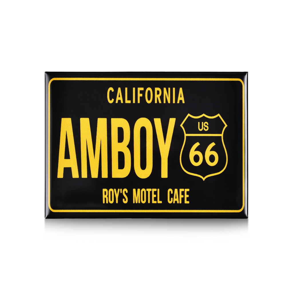 Black Amboy California Route 66 License Plate Magnet