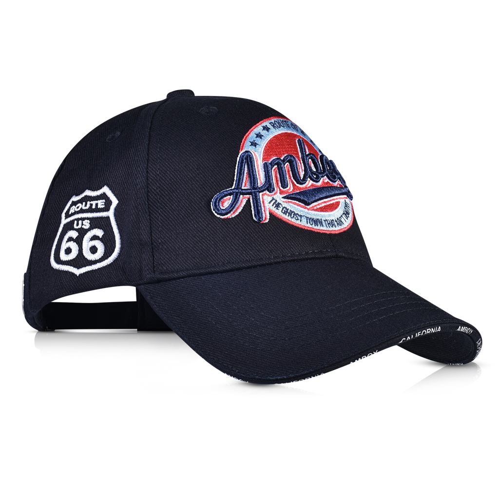Embroidered Amboy Logo Route 66 Shield Dad Hat