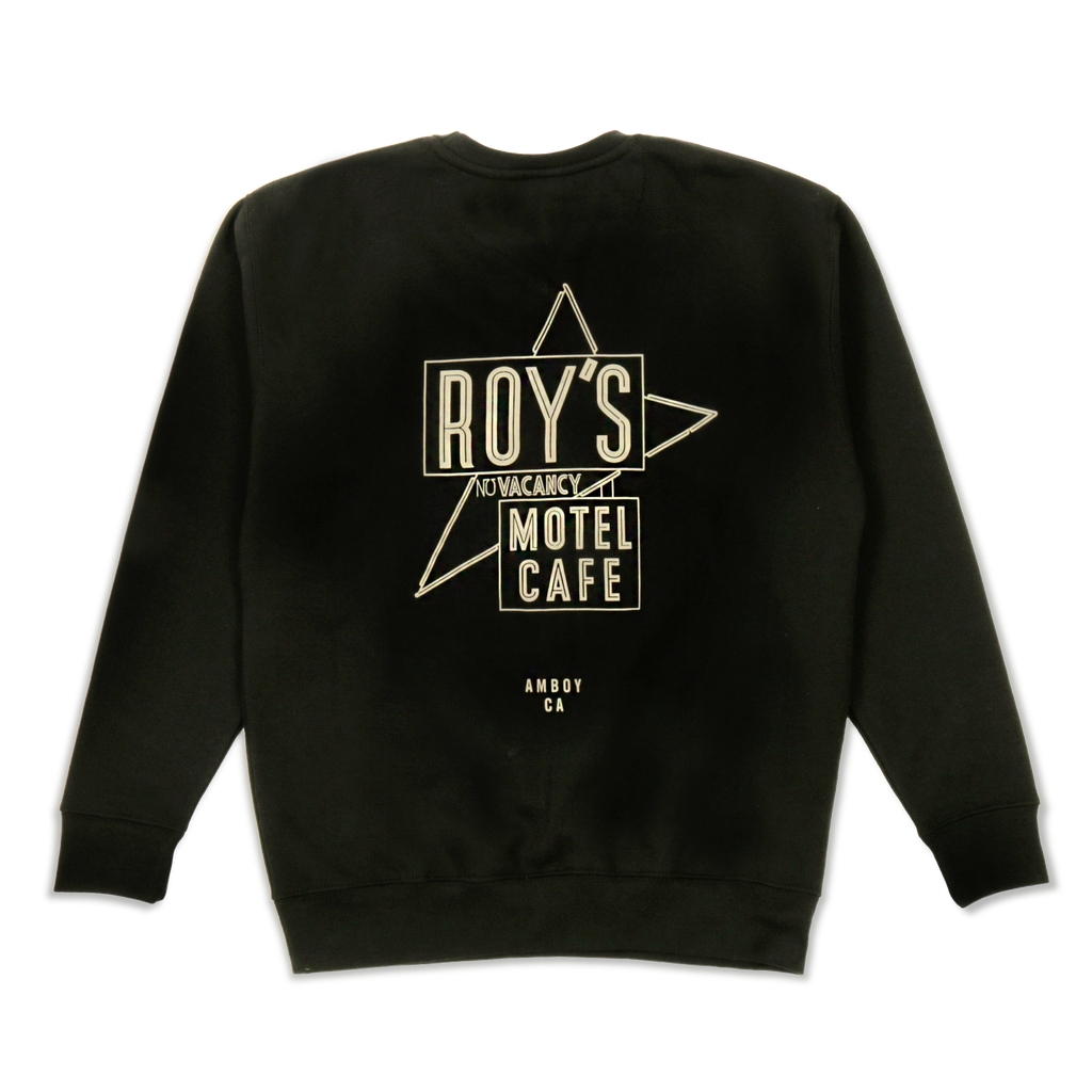 Roy's Motel Cafe Famous Sign Blackout Crew Neck