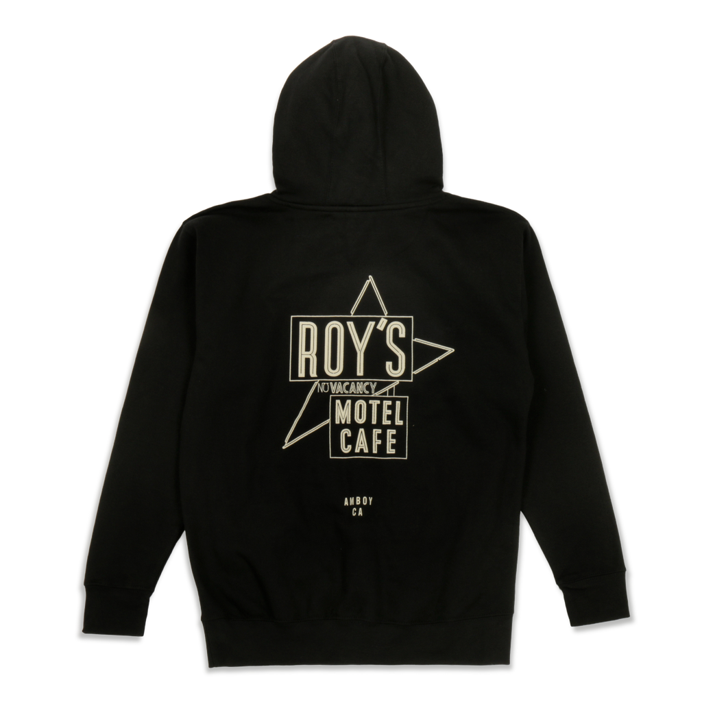 Roy's Motel Cafe Famous Sign Blackout Hoodie