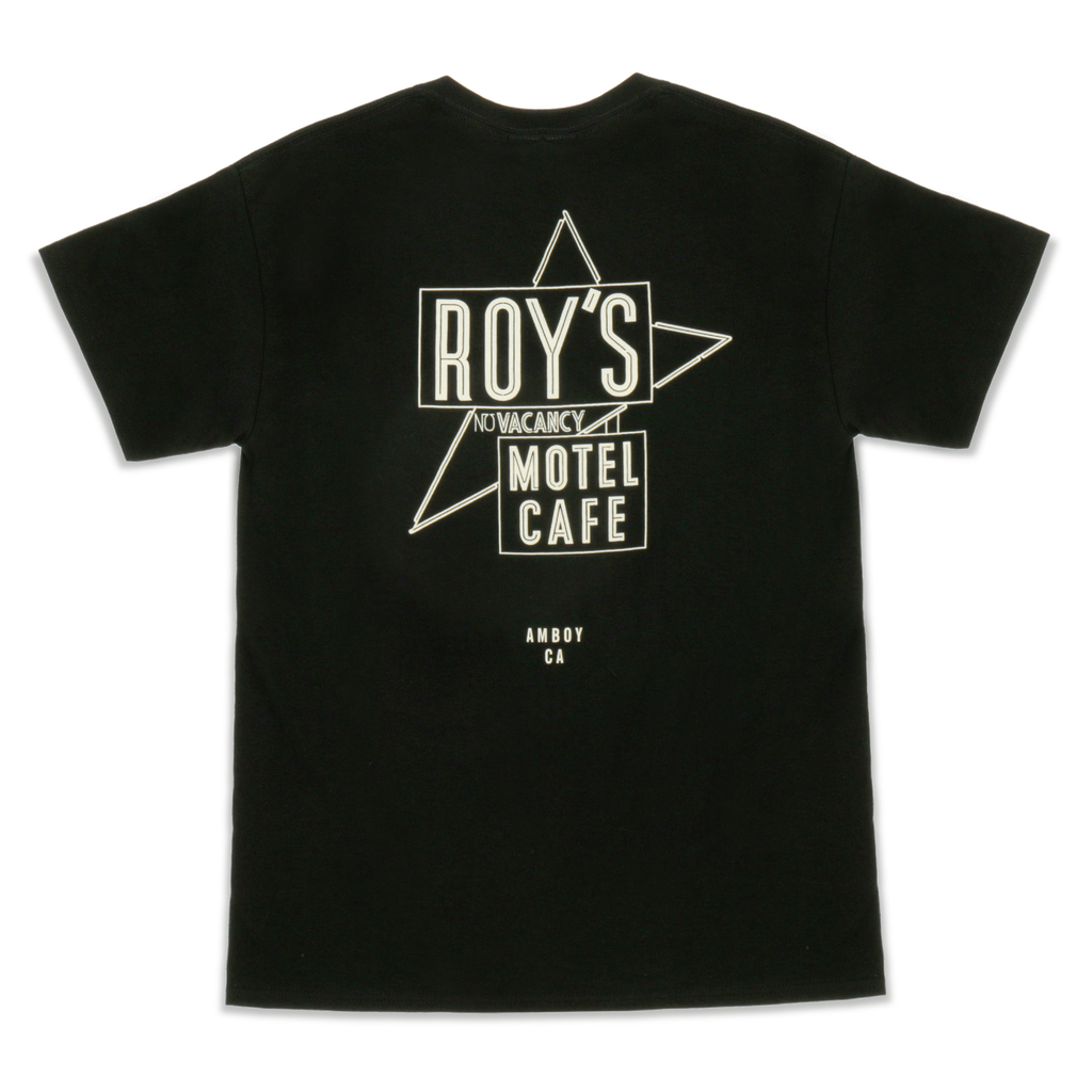 Roy's Motel Cafe Famous Sign Blackout Short Sleeve Shirt