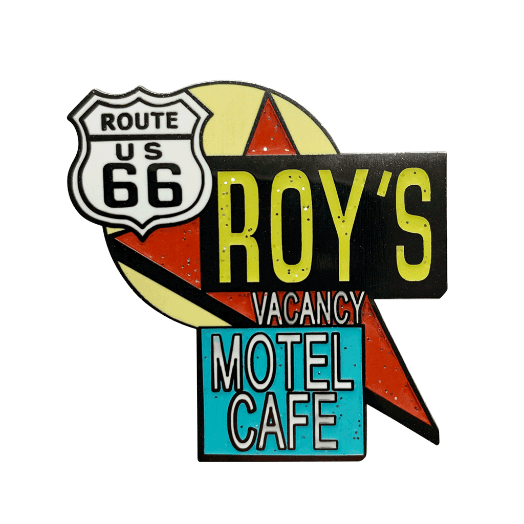 Roy's Motel Cafe Famous Sign Pin