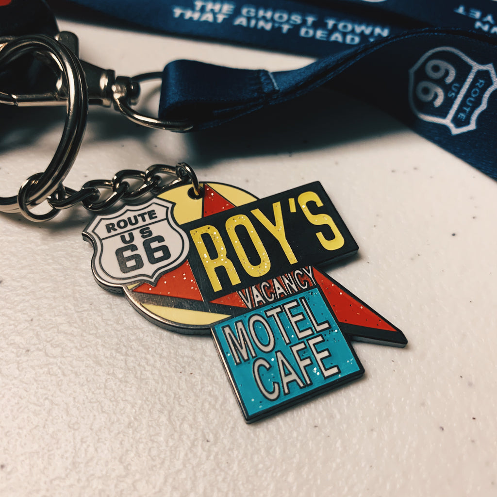 Roy's Famous Sign Keychain
