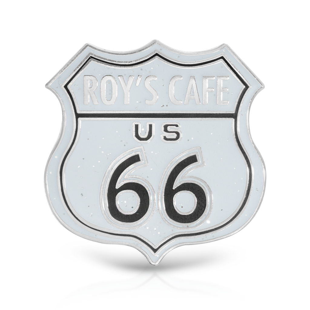 Roy's Cafe Route 66 Metal Shield Pin