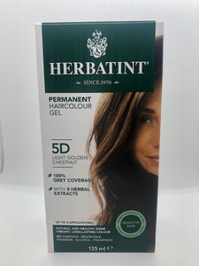Herbatint Hair Colour - 5D (golden chestnut)