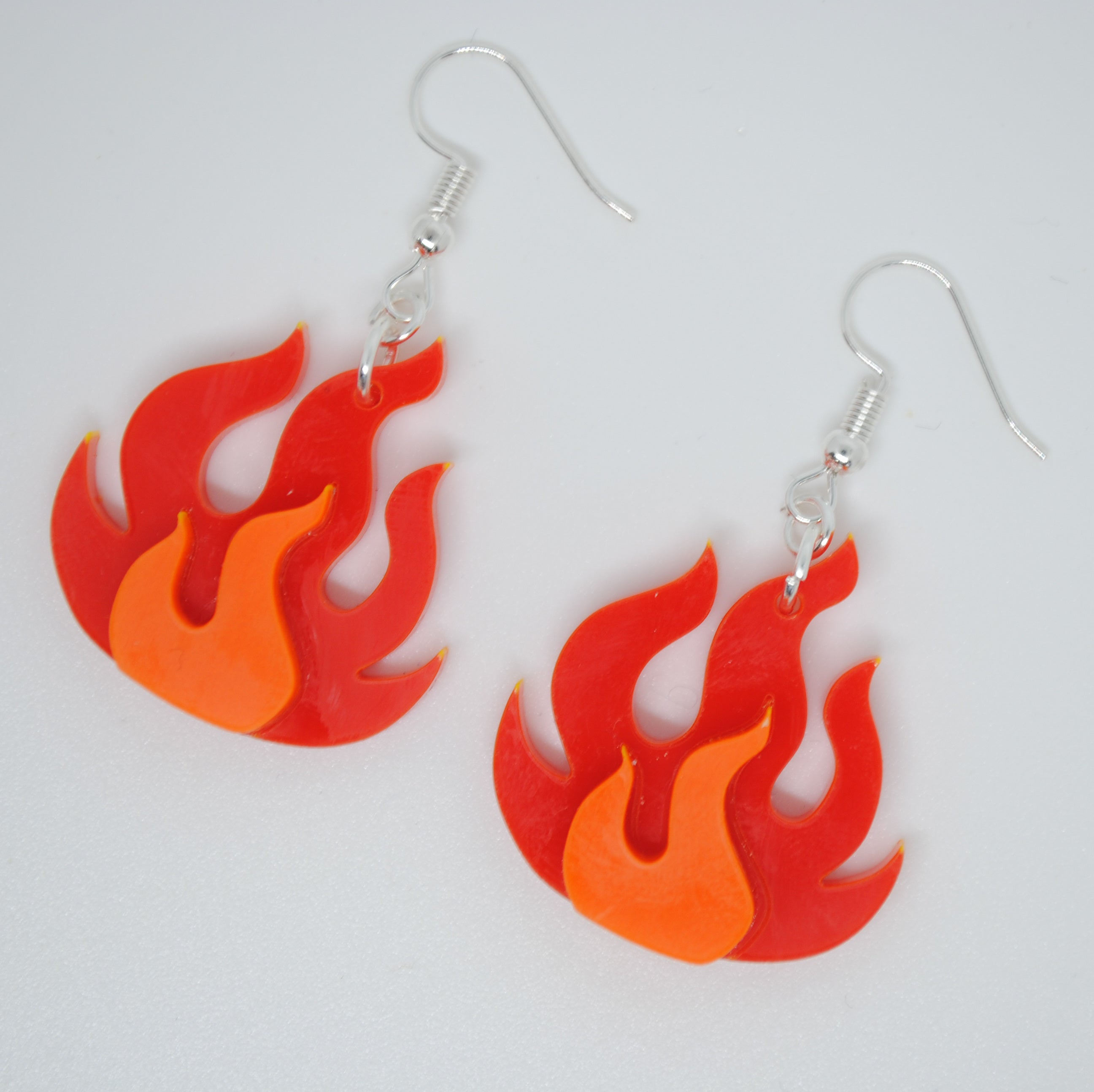 Flame Hook Earrings - Available in Opaque and Neon