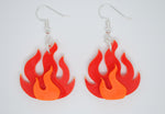 Load image into Gallery viewer, Flame Hook Earrings - Available in Opaque and Neon